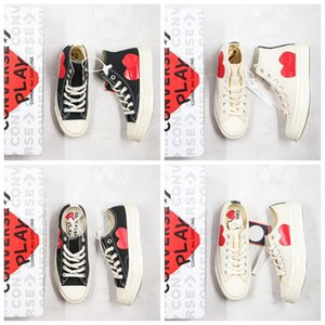 High Quality Skate Shoes 1970s Chuck Canvas Play Jointly Big Eyes High Top Heart CDG Play Women Men Casual Sneakers With Box