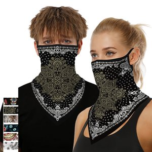 Women Men Face Scarf Individuality Design Face Scarf Bandana Ear Loops Face Balaclava Neck Gaiters for Dust Mask
