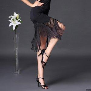 New Lady Latin dress ballroom tassel practice dance dress