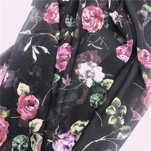 diy dikiş sanatı için dikiş kadın elbise ve bluz sıcak satış ucuz geçiş baskı çiçek Paris şifon kumaş