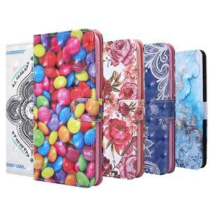 3D Bling Blumen-Mappen-Leder-Kasten für Samsung Galaxy S10 S10E A10 S20 Ultra-A11 A31 A41 A21S M31 M21 A21 stehen Strap-Karten-Slot-Telefon-Abdeckung