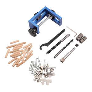 New Three-In-One Drilling Locator Tool Kit Hole Puncher Hole Locator Opener Woodworking Positioner Drilling Jig Tool 25-60m