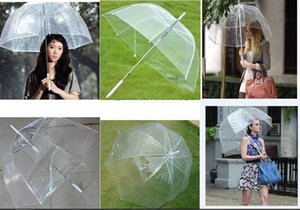 "34"" Big Clear Cute Bubble Deep Dome Umbrella Gossip Girl Wind Resistance free shipping"
