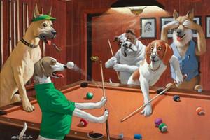Arte perros Métodos de impresión Arthur Sarnoff juegan de las pinturas de aceite de impresión piscina 02 Decoración pintada a mano HD en lona Wall Art Imágenes 200718