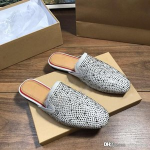 Clásico Dama sandalias del verano 2019 del diseñador de las sandalias sandalias mujeres de la marca de alta calidad de las rojo-únicas Plain Zapatos de uñas deslizadores de señoras ocasionales