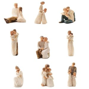 [MGT]Nordic style love family resin figure figurine ornaments family happy time home decoration crafts furnishings T200330