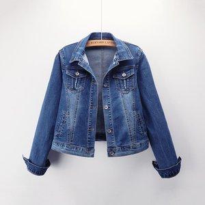 Yu Kube Plus Size 5XL Bomber Short Jeansjacken Streetjeansjacke Lässige Stretch Outwear Jaqueta Jacke Feminina