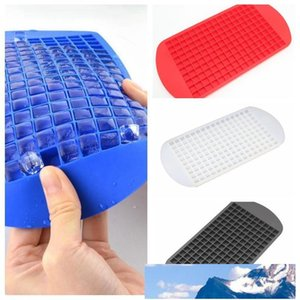 Silicone Ice Cube Tray Mini Cube Silicone Maker Mold Freeze Mould Ice Cube Mold Ice-making Box Mold Ice Cream Tools DH0633