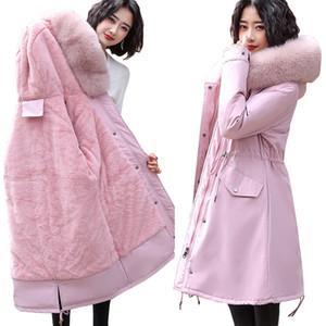 Winter Snow Wear Wadded Warm Female Jacket 2020 Winter Jacket Women Fur Lining Warm Outwear Female Long Parka Coat Women