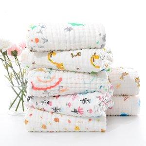 Yatak Muslin Bezi Banyo Battaniye Bebek Muslin Kareler Bebek Battaniye Çok tarzı Pamuk Havlu Battaniye Yenidoğan