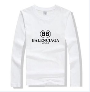 Men's Womens Long Sleeve Luxury 100% Cotton T-Shirts Tees Fashion Designer Casual Active Tshirts Shirts shirt Tops 2 colour bnmc4s7fr