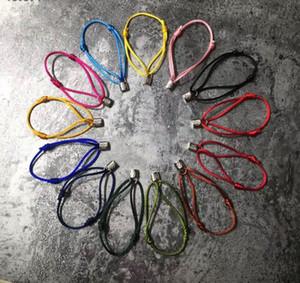 Einfaches Außenhandel Design Wohltätigkeits V Lock Armband Farbe Seilkette Charity-Armband Mehrfarben schwarz Seil rot Seil Paare Farbe