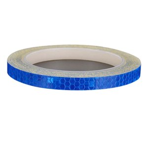 Reflective Tape Fluorescent Mtb Bike Bicycle Cycling Mtb Reflective Stickers Adhesive Tape Bike Stickers Bicycle Accessories Blu