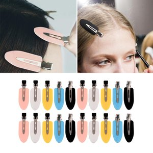 No Bend Hair Clips, Curl Pin Clips, No Crease Hair Clips for Makeup Application and Hair Styling (White Pink Yellow Blue Black)