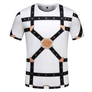 Versace T-shirt xshfbcl 2020 Calle Moda Vintage Wear BAROCCO HOMME imprimen las camisetas de los hombres Lusso Marca medusa camiseta del algodón del verano camisetas Casual T-shirt