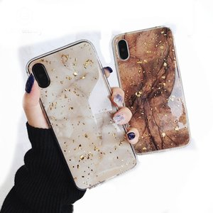 Feuille d'or bling Marble Glitter Phone Case pour iPhone 11 6s 7 8 Plus X XR XS Max souple TPU Retour couverture 411