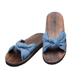 Japonesas zapatos de madera tradicionales trajes flip flop Mujer china Geta Inicio Zapatillas Sauna al aire libre sandalias Cosplay Anime
