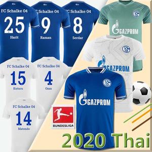 20 21 FC Schalke 04 Soccer Jersey BENTALEB 2019 2020 Schalke Caligiuri Football Shirt KUTUCU BURGSTALLER McKennie Fußball-Trikot