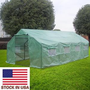 Bahçe ABD senedi için Hot 20x10x7inch Ağır Sera Tesisi Bahçecilik Sera Çadır Windproof Yağmur suyuna dayanıklı Yeşil ColorOutdoor Çadır