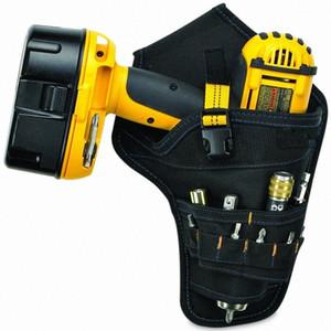 Taşınabilir Elektrikçi Aracı Bel Kemeri Kılıfı Çanta Etki Sürücü Matkap Kılıf Elektrikli Akülü Matkap Tutucu Bel Alet çantası tTE6 #