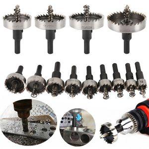 13PCS Carbide Tip HSS Drill Bit Hole Saw Set Stainless Steel Metal Alloy 16 18 20 22 25 26 28 30 35 40 45 50 53mm