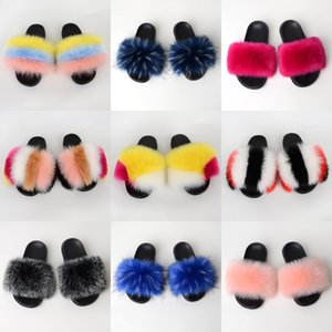 With Wo Slippers Heels Shoe Sandals Real Leather High Quality Slippers Fashion Scuffs Slippers Casual Shoes Free PT734#129