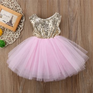 Princess Kids Baby Dress For Girls Fancy Wedding Dress Sleeveless Sequins Party Birthday Baptism For Girl Summer Dresses