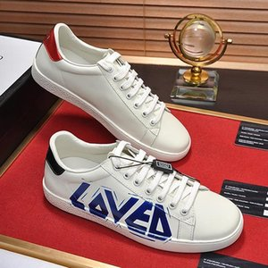 Men &#039 ;S Ace Sneaker With Loved Print Mens Shoes Vintage Luxury Leather Type Comfortable Shoes Lace -Up Low Top Sports Men Shoes Scarpe