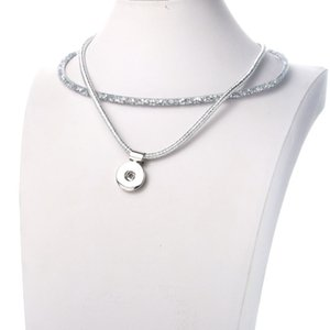 New Fashion Snap button Necklace Shining Snap Pendant Necklace fit 18mm Jewelry Magnetic Clasp Pendant Necklaces