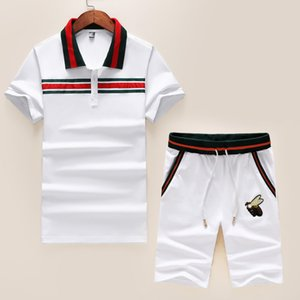 Mens Designer Fashion Tracksuit Letters Embroidery Luxury Summer Sportswear Short Sleeves Pullover Jogger Pants Suits O-Neck Sportsuit 77