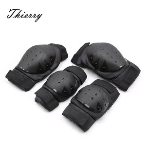Thierry puppy play dog slave Black Knee pads Elbow pads Fetish SM Products Bondage Sex Toys For women men Couple adult games CX200718