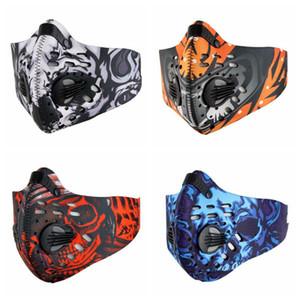 Radfahren Masken Aktivkohlestaubdicht Radfahren Gesichtsmaske Anti-Pollution-Fahrrad Outdoor Training Mask Face Shield EEA1821