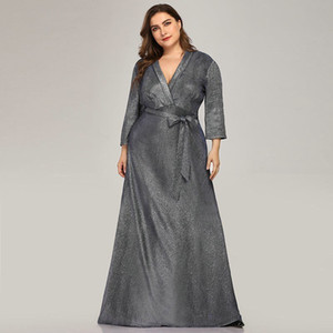 Plus Size Sparkle Mutter der Braut-Kleider Saudi-Arabien Farsali Lange Abendkleider Vestidos