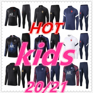 survetement psg jordan equipe de france real madrid barcelona juventus paris 2020 2021 survetement foot enfant Survêtement de football soccer tracksuit