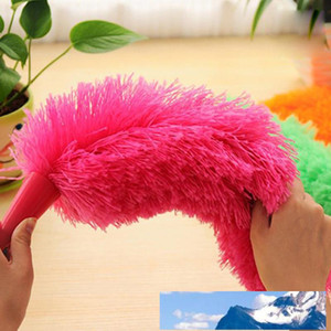 New Soft Microfiber Cleaning Duster Dust Cleaner Handle Feather Static Anti Magic Household Cleaning Tools wholesale