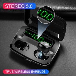 TWS F9-5 زر / اللمس نمط سماعات بلوتوث اللاسلكية الذكية سماعات الأذن الرياضة سماعات مع الشحن مربع شاشة LED العالمي لالروبوت