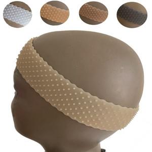 Günstige Braiders transparentes Silikon Stirnband weiche Schlagförmigen elastische Band Spitze Perücke grip Haarverlängerung Sport Silizium Perücke Band