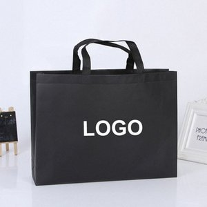 Custom High Quality Environment Friendly Reusable Print Shopping Gift Non Woven Bag With Glossy Lamination Holiday Decorations Holiday 0Ydv#
