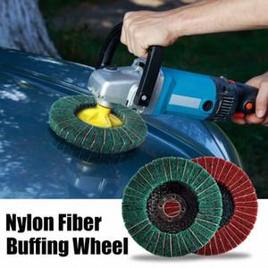 10cm Nylon-Faser-Polierscheibe Schleifpolier Buffing Disc 240/120 Grit Nylonfaser Polierscheibe Doersupp Polierer 5VgS #