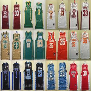 NCAA camiseta de baloncesto el envío rápido de la universidad de secado rápido James LeBron 23 Allen Iverson 3 Kevin Durant 35 del baloncesto de Jersey