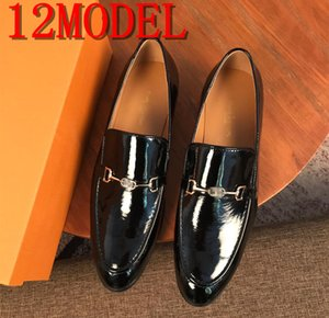 luxurious Men Crocodile Grain Leather Dress Business Office Slip-on Shoes Mens Wedding Party Loafers Men's Casual Buckle Flats size 38-45