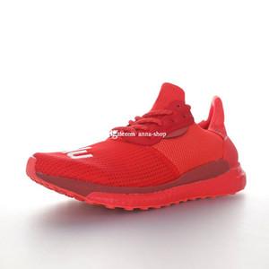 Menschliche Erzeugnisse Pharrell Williams Solar-Hu Glide Rot Weiß Turnschuhe für Männer Laufschuhe Herren Sportschuh Herren Trainers Man Ausbildung Männlich