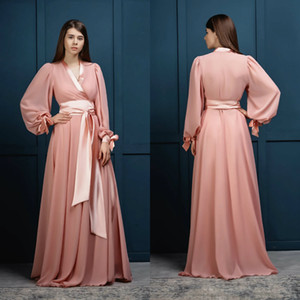 Beach Wedding Dresses Pink Women Bathrobe Nightgown Sleepwear Bridal Sheer Robe Bridesmaid Bride Gowns Plus Size Custom Made