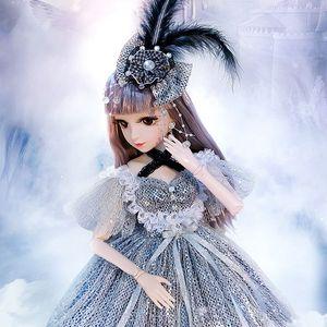 60cm Fashion Girl Dolls Großes ursprüngliche handgemachtes 03.01 Puppe voller Satz 18 Jointed Puppe-Mädchen-Spielzeug für Kinder Kinder Geschenk T200712
