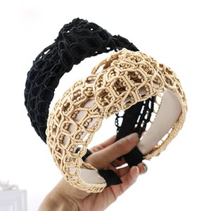 Handmade Weave Hair Bands For Girls Women Solid Classic Wide Side Turban Headband Hair Hoop Princess Hair Accessories