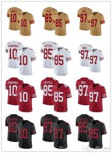 2019 Men Women Youth San Francisco49ersNFL Jersey 10 Jimmy Garoppolo 85 George Kittle 97 Nick Bosa Football Jerseys Custom