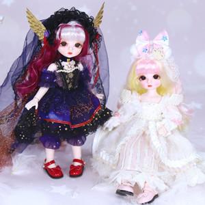 FAIRY Doll 1/6 BJD Nom Par Little Angel mécanique Corps commun avec le maquillage Y compris Scalp yeux Vêtements pour les filles de Noël Cadeaux