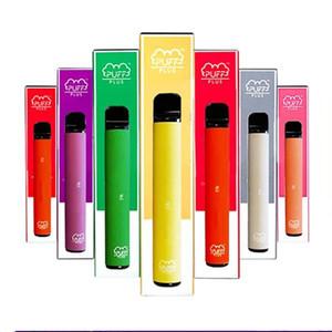 Newest Puff bar Plus Disposable Device empty Pod Starter Kit Upgraded 550mAh Battery 3.2ml Cartridge Vape 37 Colors