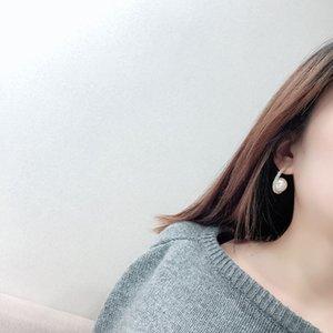 South Korea Dongdaemun New Fashion Designer High-Grade Oval Pearl Earrings Temperament All-match Earrings Female