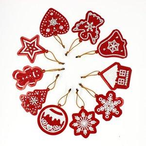 Dpsupr 5d Diy Diamond Painting Christmas Ornaments Diamond Mosaic Crystal Shiny Beads Christmas Tree Decoration For Home GS01